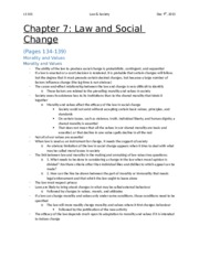 Chapter 7 - Law and Social Change