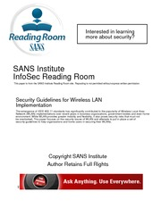 IS3120 LAB #5 SANS Security Guidelines for WLAN Implementation