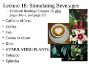Lecture 18 Stimulating Plants
