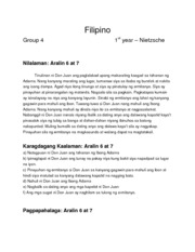 Filipino Aralin 6 at 7