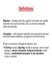extra slide - unit 2 digestion & absorption definitions