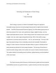 Technology and Globalization of Green Energy.docx