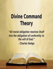 Divine Command Theory(1)