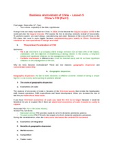 Business environment of China – Lesson 5.docx
