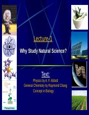 Why Study Natural Science