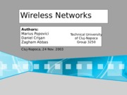 Wireless Networks (1)
