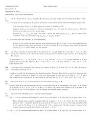 Exam A Solutions on Topology