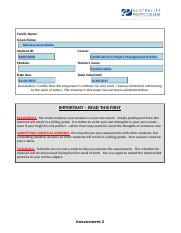 Nicholas Arcos Dukes_S40053068_Project Life Cycle Management_Assessment 2.docx