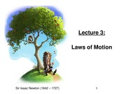 Lecture 3--Laws of Motion