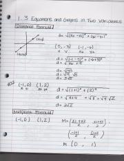 College Algebra 1.3 Equations and Graphs in two variables with examples