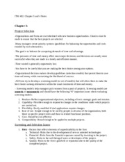 ITM 402-Chapter 3 and 4 Notes