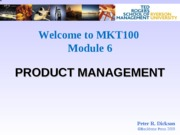 M6 Product and Brand Management