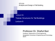 LEC 9 -Tubullar structures for tall buildings