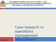Case research in operations management