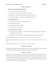 MATH 151 Fall 2014 Midterm 2 Study Guide Topics