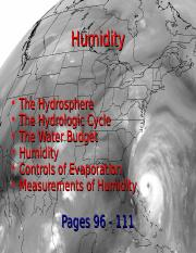 Lecture 8 - Humidity (2.5.15)