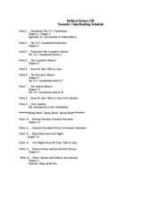 POLS 130 Reading Schedule
