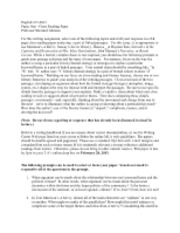 English 217 Close Reading Paper