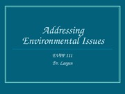 EVPP 111 Lecture - Addressing Environmental Problems - Student - Fall 2010