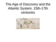 The Age of Discovery and the Atlantic System