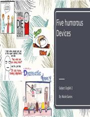 1.04 humorous devices- nicole garces