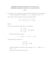 MATH 1813 2013 Test 1 Solutions