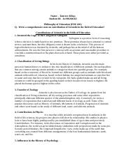 Philosophy of Education(assignment 2 solved).docx