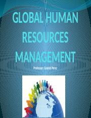 PART 5 - Global Human Resources Management