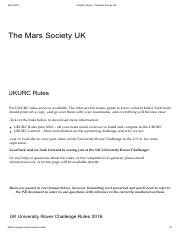 Competition Rules - UKURC Rules – The Mars Society UK
