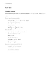 More Sample problems