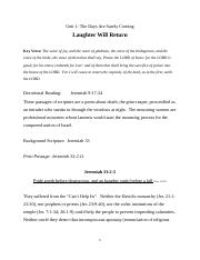 Laughter Will Return SUNDAY SCHOOL LESSON 9 23 2014.docx