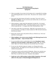 TMG Instructions for Sending and Receiving Spring 2011
