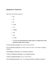 Assignment 4 solutions