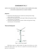 EXP-03 Effect of Wind Direction, Pitch Angle & Number of Blades.docx