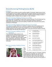 Directed Listening Thinking Activity