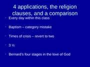 1.4 applications of Fowler, the Religion clauses, and another developmental theory