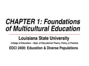 edci 2400 foundations of multicultural education