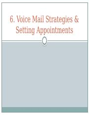 6. Setting Appointments and VM Strategies Sakai.pptx