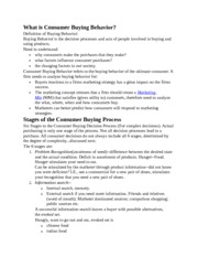 Consuming Behavior Notes