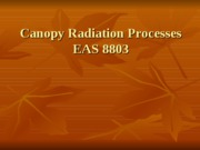 Canopy Radiation Processes