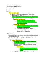 psy 100 ch 12 Documents similar to psy 100 - assignment 5  app ch12 outline_personality uploaded by john christian martin_skin deep_bodies without limits in hiroshima mon amour uploaded by existrandom psych 102 uploaded by shivani daga module 4 key points uploaded by charles reginald k hwang.