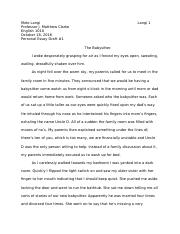 personal essay 2