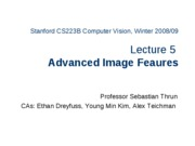 CS223B-L5-AdvancedFeatures