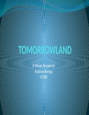 TOMORROWLAND MOVIE REVIEW.pptx