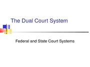 Lecture 23-The Dual Court System