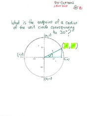 MATH 105 Fall 2013 Unit Circle Examples Lecture Notes