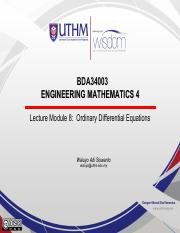 Lecture Module 8 - Ordinary Differential Equation(new)