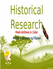 R5 HISTORICAL RESEARCH PPT