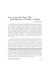 Moustafa, Law versus the State