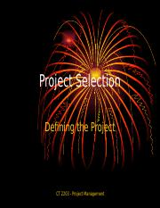 Class 2 Project Selection.ppt